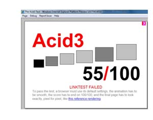 acid internet explorer 9