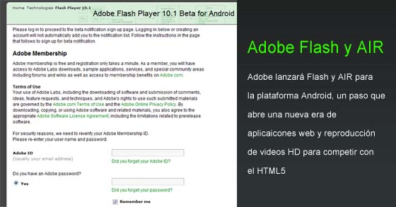 adobe air flash android