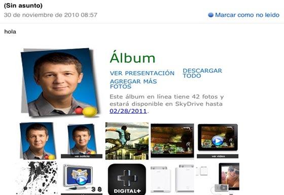 album fotos hotmail