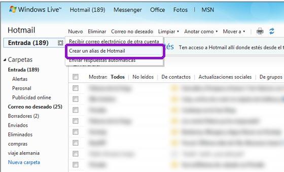 alias hotmail
