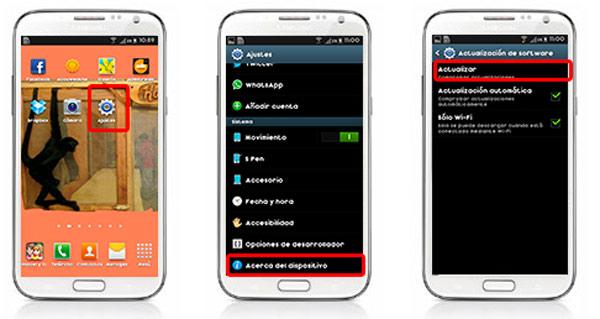android actualizacion galaxy s4