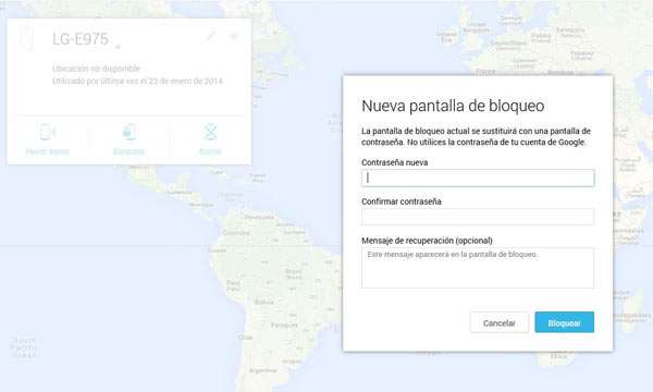 android device manager bloqueo