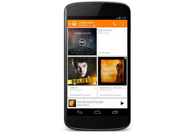 android google play music all access