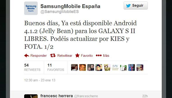 android jelly bean samsung galaxy s2