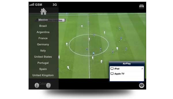 app television ipad directo