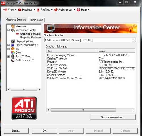 ati catalyst drivers windows 7