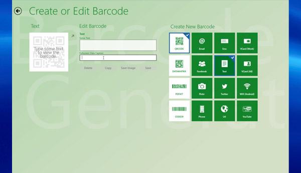 barcode generator windows rt