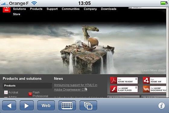 cloud browse flash ipad iphone