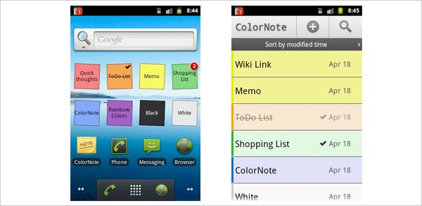 colornote notepad android