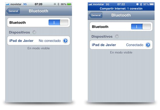 compartir internet iphone