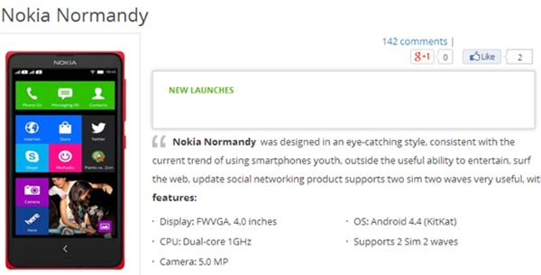 comprar nokia normandy