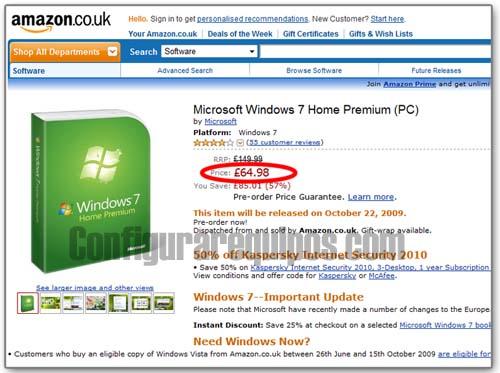 comprar windows 7