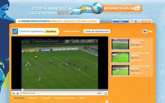 copa america 2011 youtube