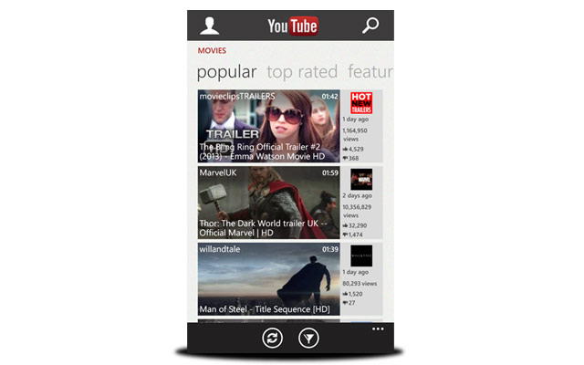 descarga youtube windows phone