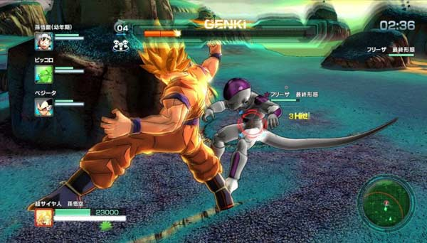 dragon ball z battle of z gameplay