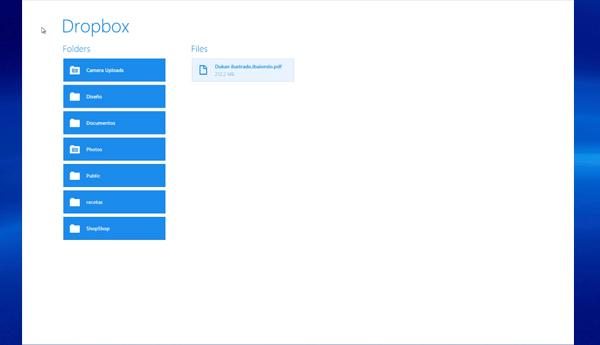 dropbox tablet windows 8