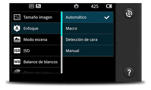 enfocar movil android