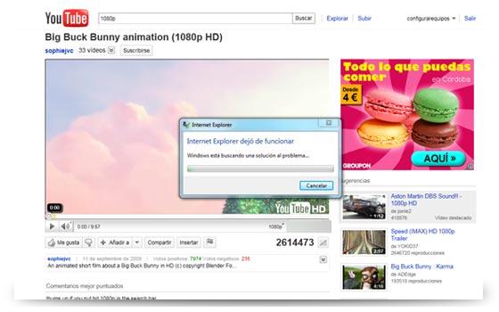 explorer 9 internet problemas
