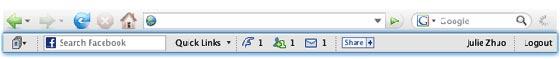 facebook toolbar barra