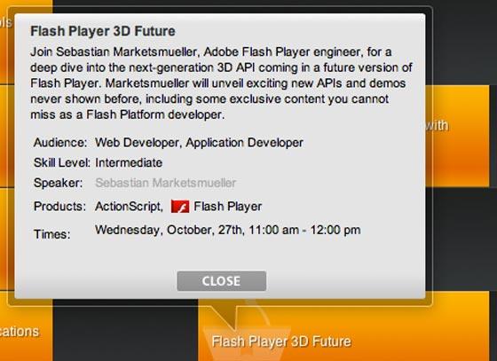 flash player 3d