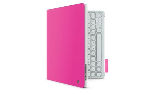 funda rosa ipad logitech keyboad