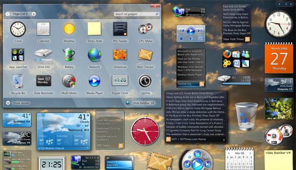 gadget windows sidebar
