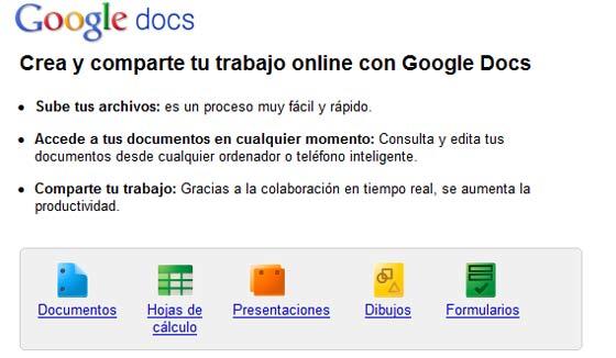 google docs formatos