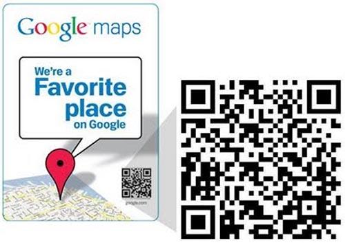 google favorite places qr