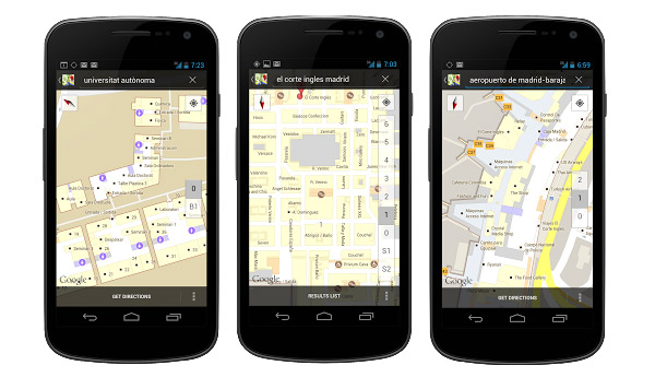 google maps android interiores
