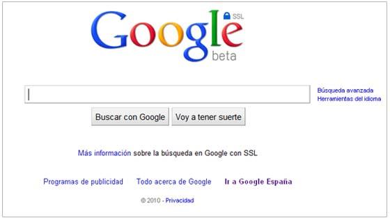 google ssl buscador