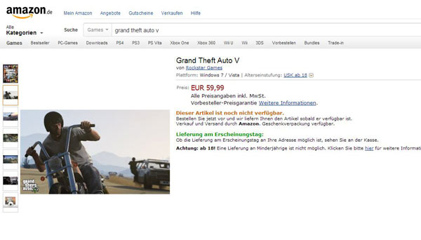 gta 5 pc amazon