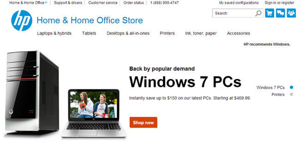 hp pc windows 7