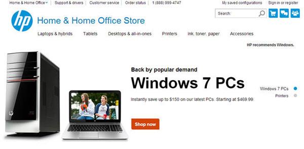 hp pc windows 7