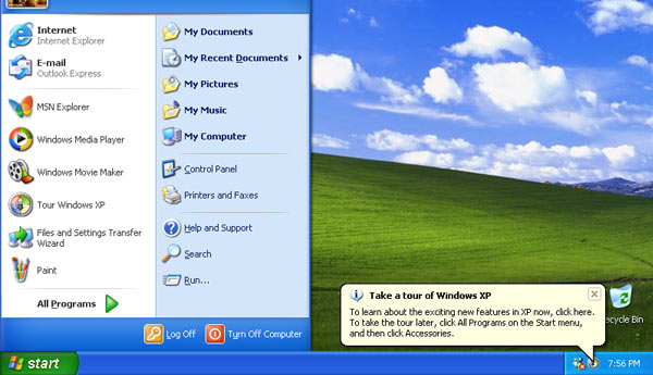 inicio windows xp
