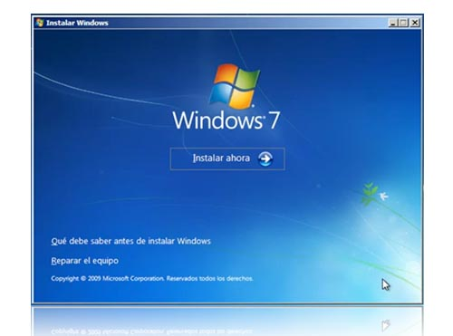 instalacion windows 7