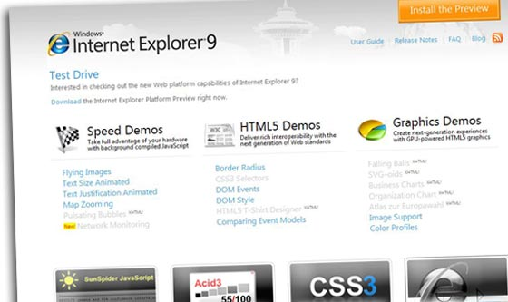 internet explorer 9 flash