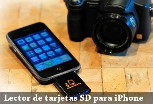 lector tarjetas memoria sd iphone