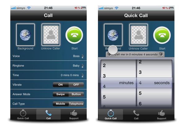 llamada falsa iphone fake call