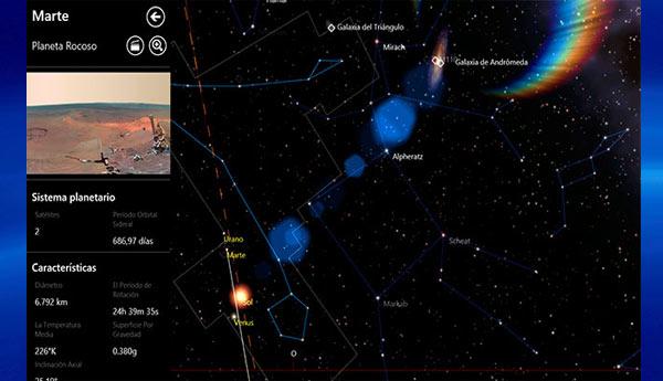 mapa estelar windows rt