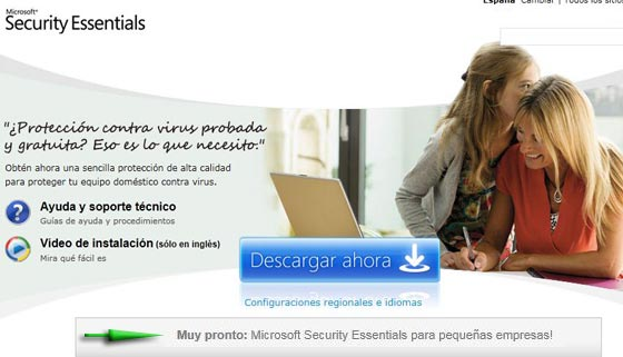 microsoft security essentials empresas