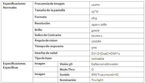 monitor 3d lg w63d
