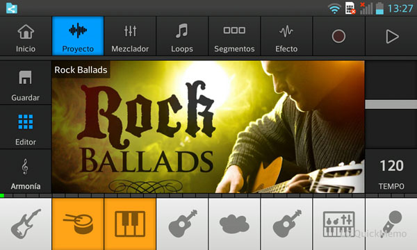 music maker jam android estilos