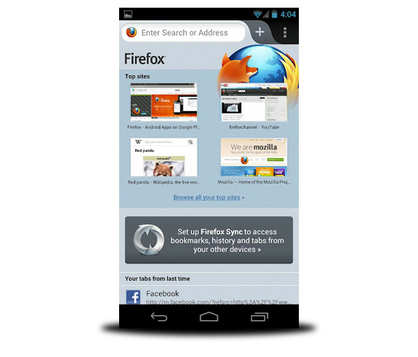 navegador firefox android