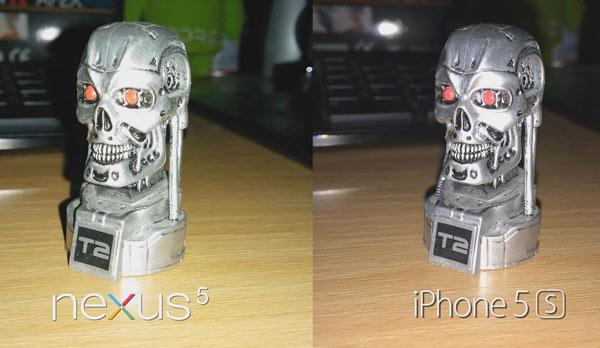 nexus 5 vs iphone 5s camara