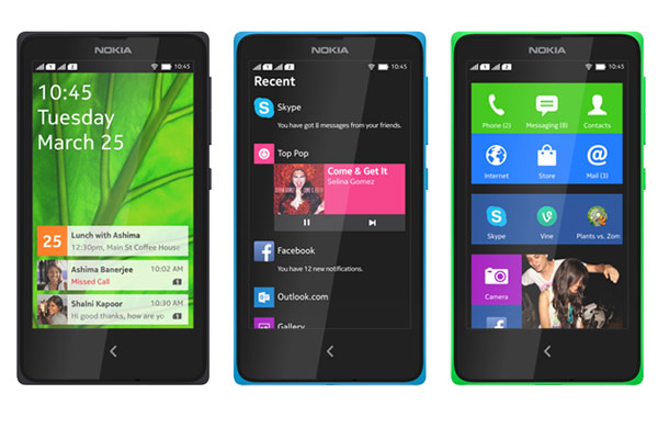 nokia x android colors
