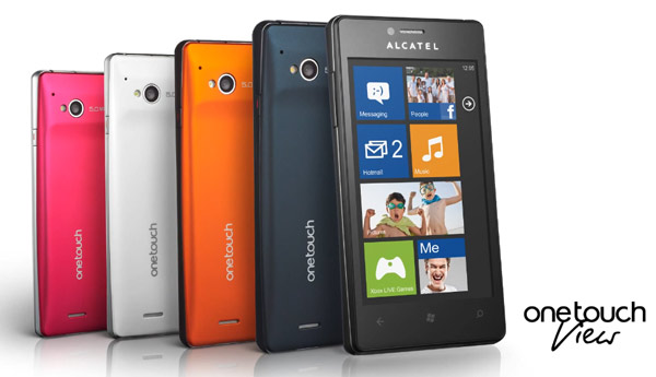 one touch view alcatel windows phone