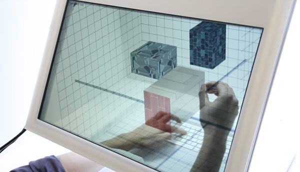 ordenador transparente 3d