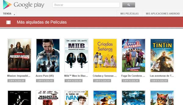 peliculas google play android