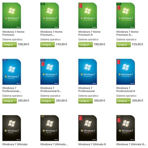 precio windows 7 microsoft