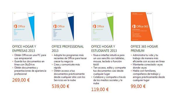 precios office 2013